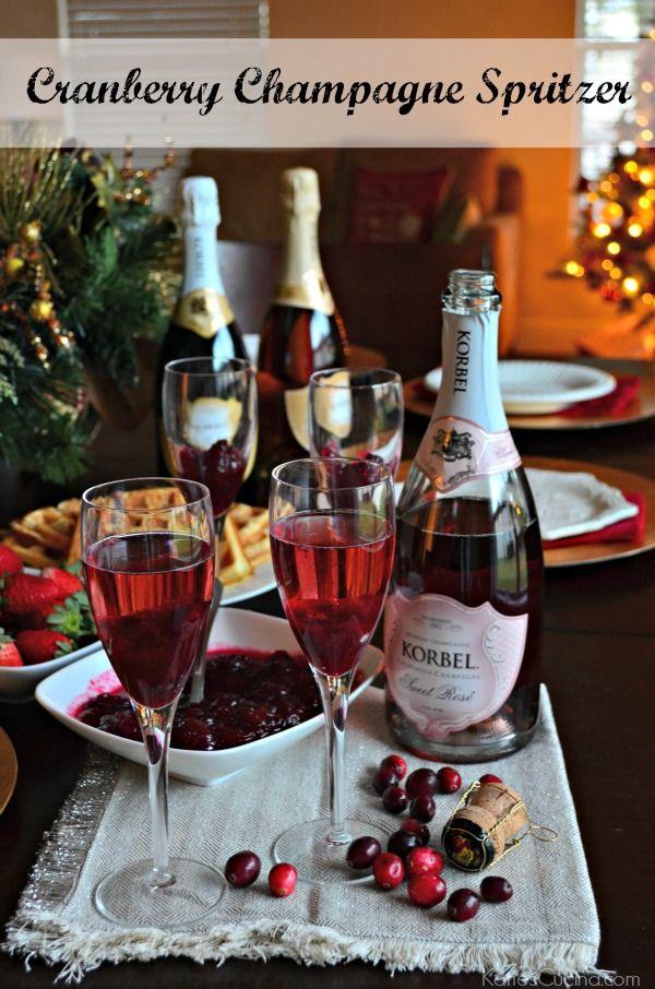 Cranberry Champagne Spritzer #SayBrunchContest @Korbel_1882 #AD