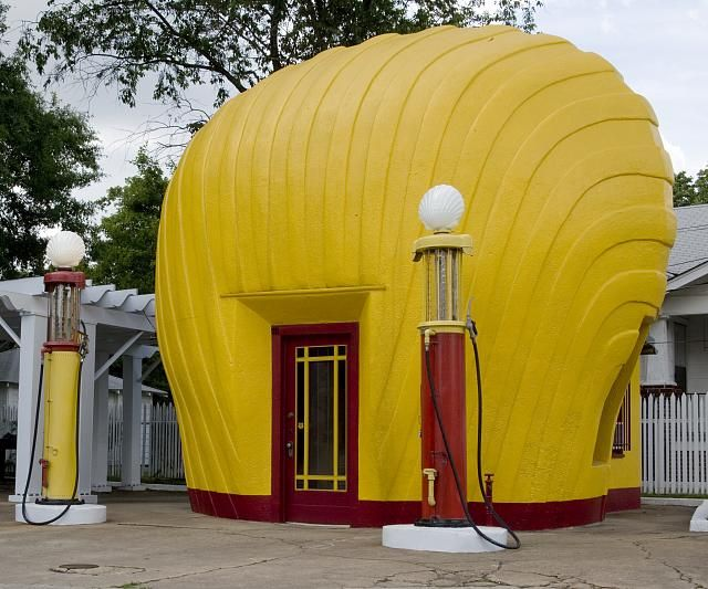 Historic Shell gas station, Winston-Salem, North Carolina
