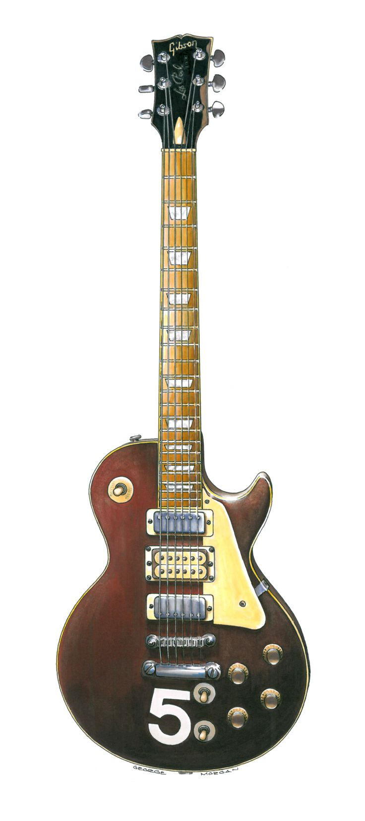 gibson les paul deluxe 5 this is pete townshend 39 s wine red 5 gibson les paul deluxe. Black Bedroom Furniture Sets. Home Design Ideas