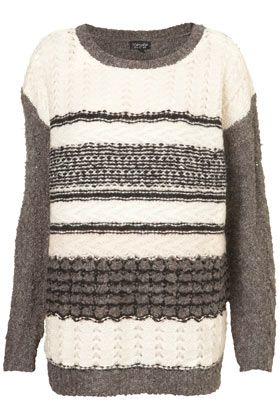 Knitted Mix Stitch Jumper