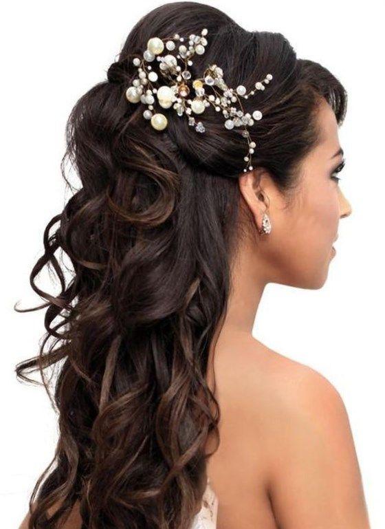 Peinados Para Bodas Pelo Largo Trendypeinados Trendy2019 Long Hair Styles Long Hair Wedding Styles Quince Hairstyles