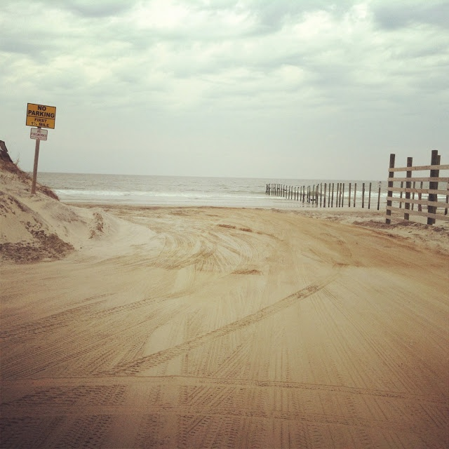 End of the Road - Highway 12 in Corolla, NC