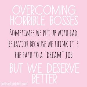 how to overcome horrible bosses
