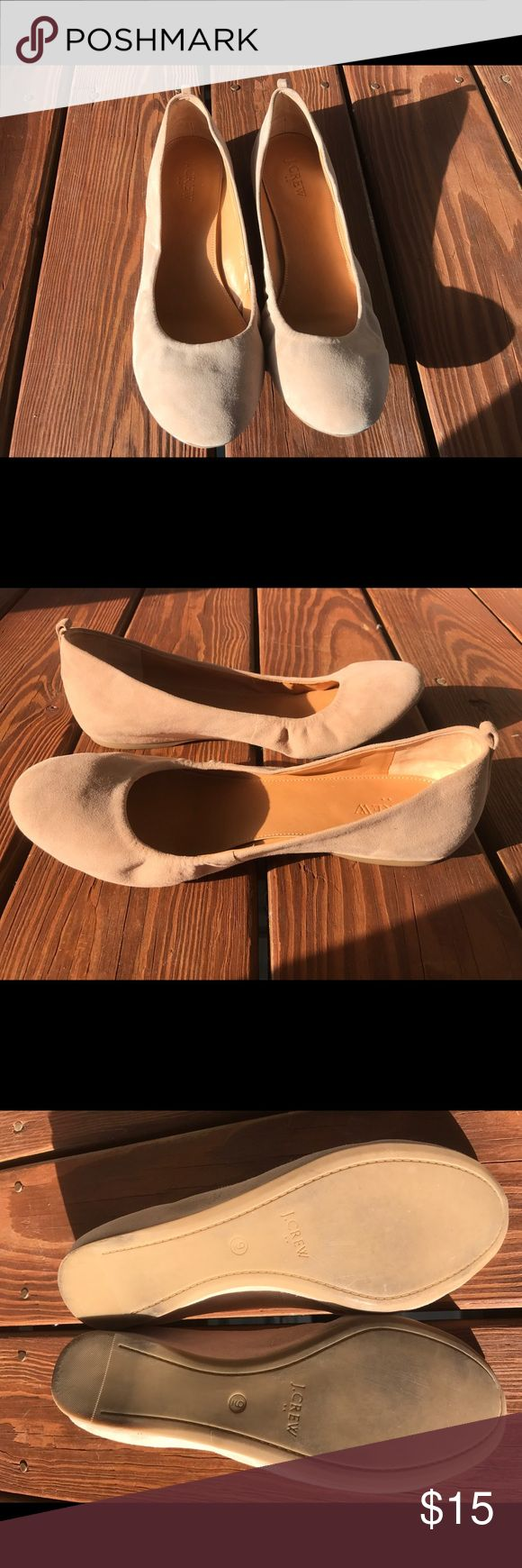 "J Crew ""Anya"" Suede ballet flats, size 9. These are really cute and comfy ballet flats from J Crew, size 9. They are the ""Anya"" style in ""saddle"" color which is a really nice nude/light beige color. They are suede with a leather upper and rubber sole. They are a current style still selling on the J Crew outlet site. They have only been worn a couple of times and are in excellent condition. J Crew  Shoes Flats & Loafers"