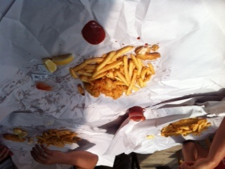 Fish and Chips in Manganui, New Zealand