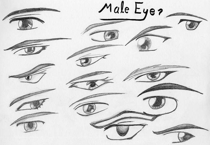 Manga male eyes