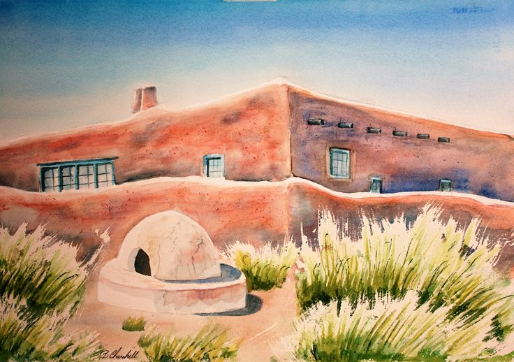 Canyon Road in Santa Fe New Mexico is a top art gallery destination.