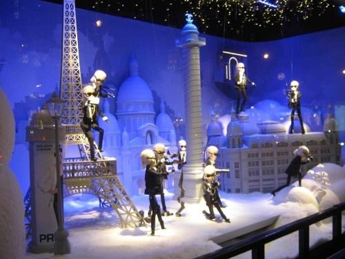 Christmas displays at Printemps Haussmann, Paris