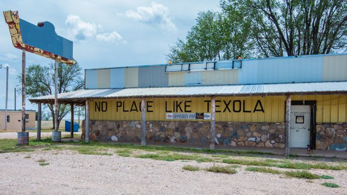 Last Bar in Oklahoma before Texas state line on Route 66-Texola Oklahoma