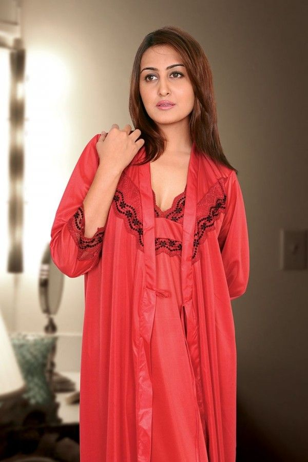 18d1f5ffc0a03 IFG Bridal Nighty in red color. Buy online from imported.pk