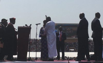 Former world best player George Weah was sworn in on Monday as the President of Liberia, in the country's historic transition between democratically-elected leaders since 1944.