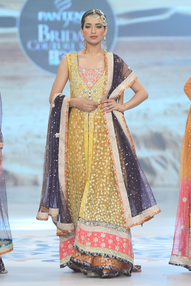 Anarkali by Zainab Chottani at 2014 Bridal PBCW Collection. Pakistani wedding dress