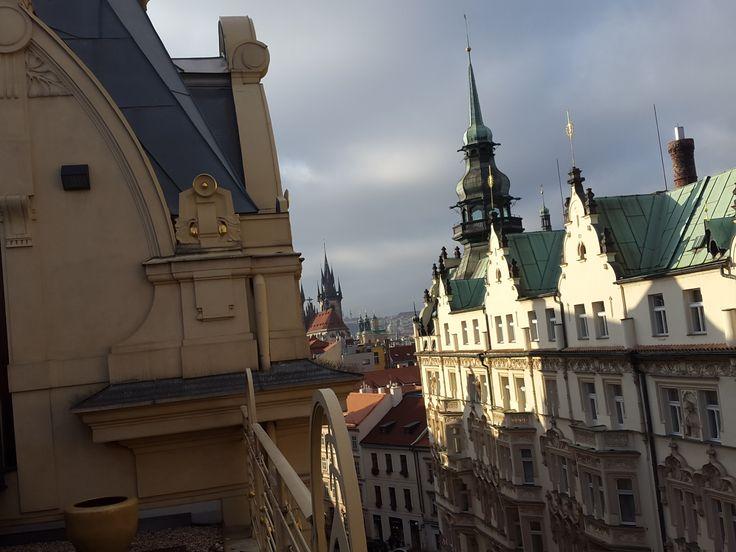 Výhled ze střechy Obecního domu