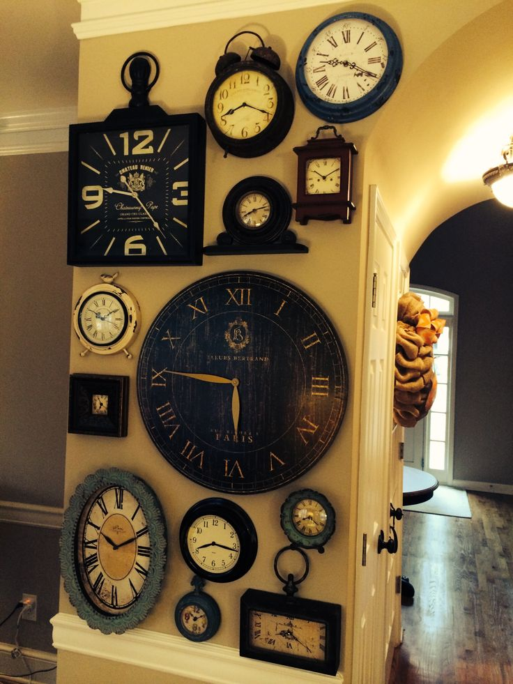 Best 25 Wall Of Clocks Ideas On Pinterest Wall Clock