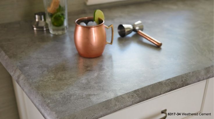 Weathered Cement formica countertop / counter