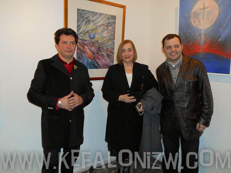 Οι καταξιωμένοι καλλιτέχνες Κ. Ευαγγελάτος και Κ. Δελλαπόρτα συμμετείχαν με έργα τους στην ομαδική έκθεση εικαστικών στον Ελληνογαλλικό σύνδεσμο - Καλλιτεχνικά Νέα
