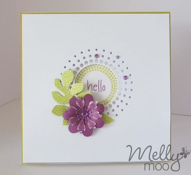 Mellymoo papercrafting: Hello, hello HELLO!  MB circle burst die + MFT dies.