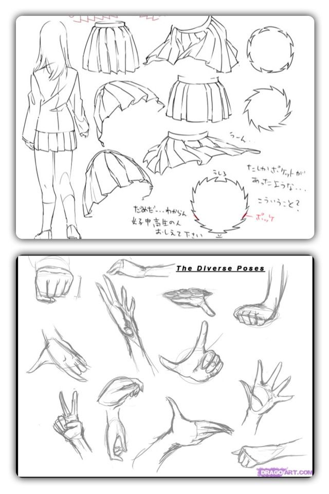 The Anime Skirt Is Pretty When It Is Flying I Have Drawn Some Skirts But They Are Not As Good As These Cartoon Drawing Tutorial Anime Skirts Fly Drawing