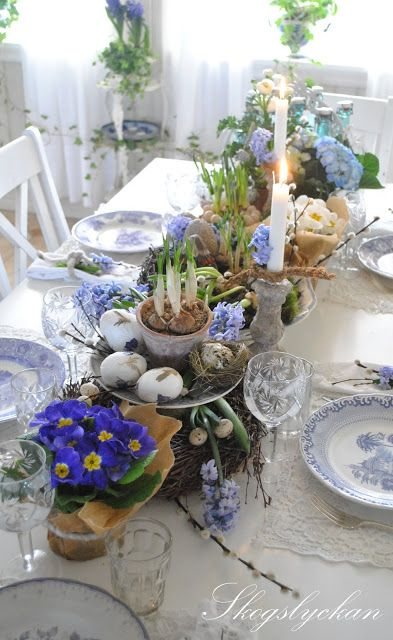 Beautiful table Setting for easter 2014