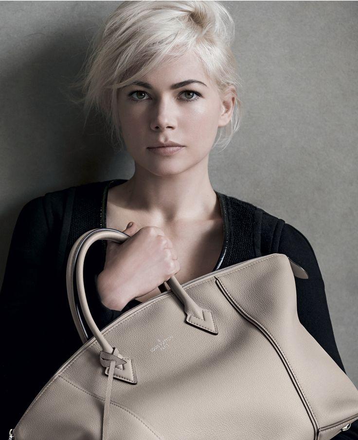 Michelle Williams with the Louis Vuitton Lockit Handbag
