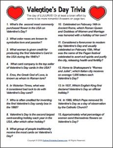 valentine's day trivia questions printable