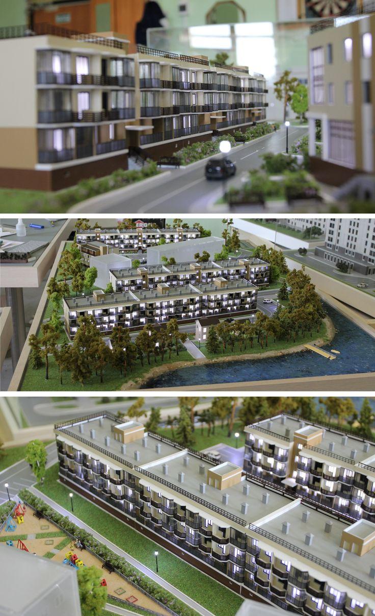 """Model of residential complex """"Kirkkoyarvi"""" in Saint Petersburg"""