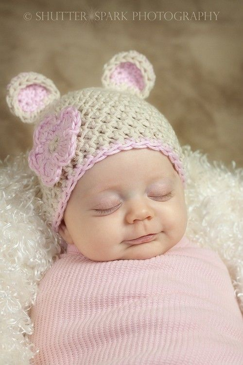 Crochet Baby Hat Patterns 0 3 Months : PDF CROCHET PATTERN Sugar Bear Beanie Photo Prop Sizes ...