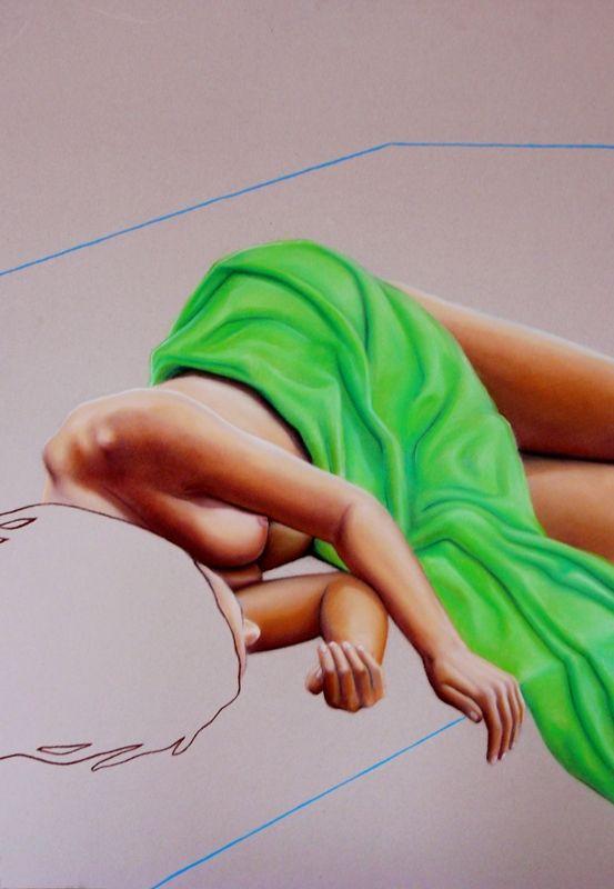 B - sucha pastel na kartonie, 70/100cm  /B - dry pastel on cardboard, 27,5/39,5inch http://www.facebook.com/cin3k88/ na sprzedaż/for sale