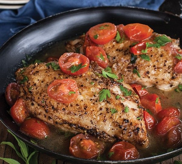 French Chicken Breasts with Cherry Tomatoes and Herbs by Annabel Langbein