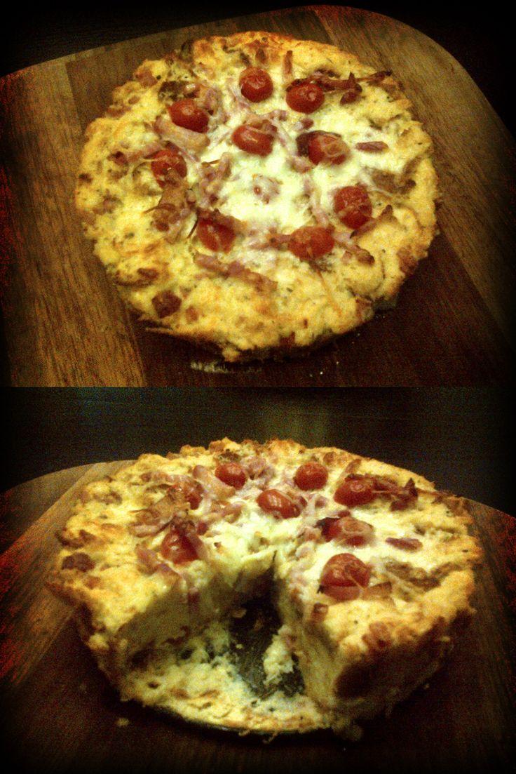 Cheese And Bacon Breakfast Strata Cake (BREAD BAKE)