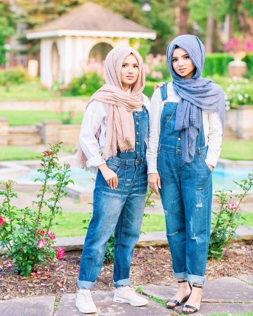 jumpsuit hijab-Hijabi photo session with your best friend – Just Trendy Girls