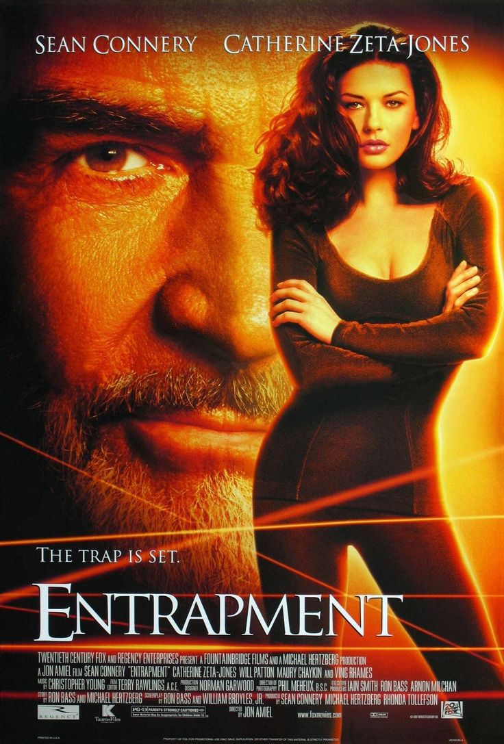 'Entrapment' is a 1999 American caper film directed by Jon Amiel and starring Sean Connery and Catherine Zeta-Jones. A great movie, well acted scenes, some edge-of-your seat scenes.  On my Top 100 favorite movie list.