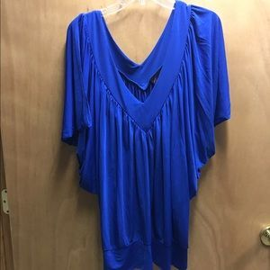 I just added this to my closet on Poshmark: Cobalt blue batwing top with banded bottom.. Price: $25 Size: 3X