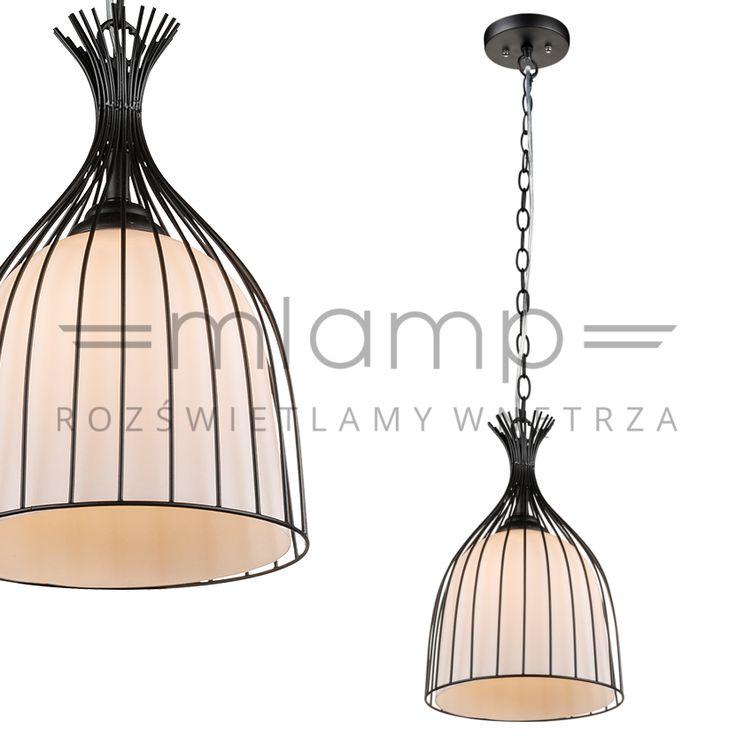 LAMPA wisząca STACY 15272 Globo czarna biała | =mlamp.pl=