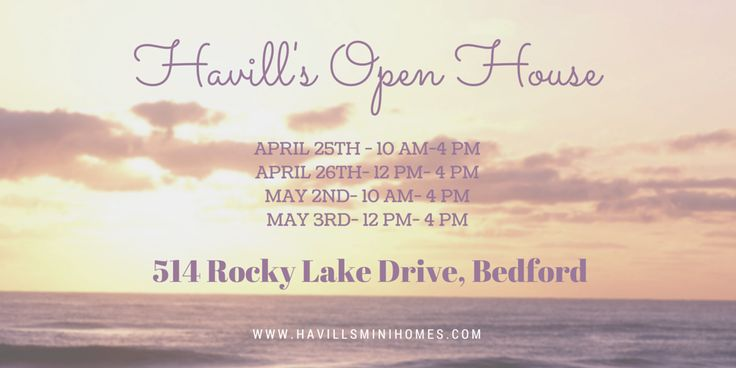 #OpenHouse #SPRING #Bedford #MiniHomes