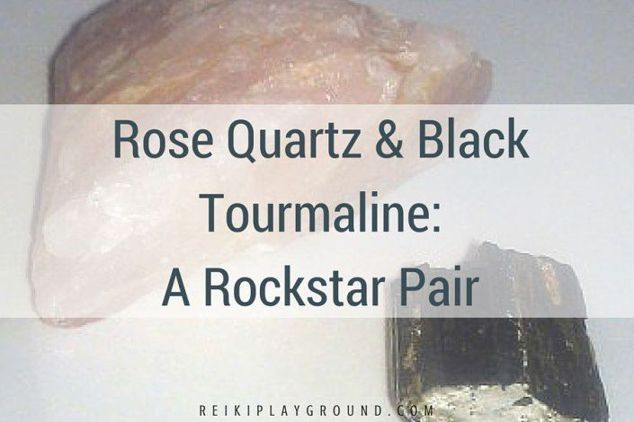"""Rose Quartz & Black Tourmaline: A Rockstar Pair The most popular post on Reiki Playground!  Today we are conquering negativity, self doubt, worry, and many other mental chatters that causes us heartaches. This is my super simple, super easy crystal and Reiki """"trick"""" to get the good stuff flowing and the bad stuff out."""