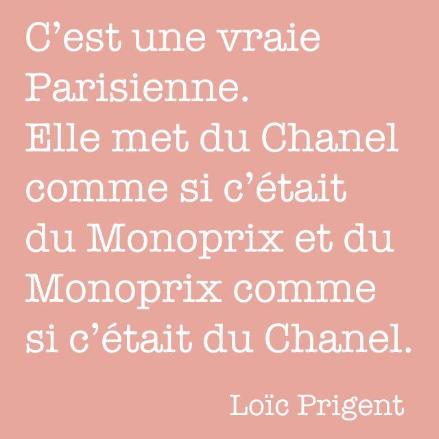 Loic Pringent Quote #Chanel #Monoprix