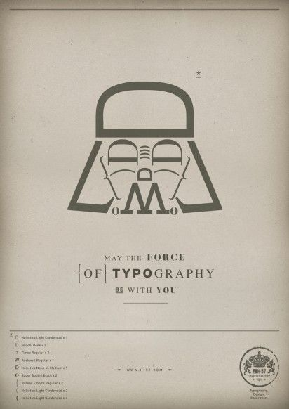 May the Force of Typography be with you.