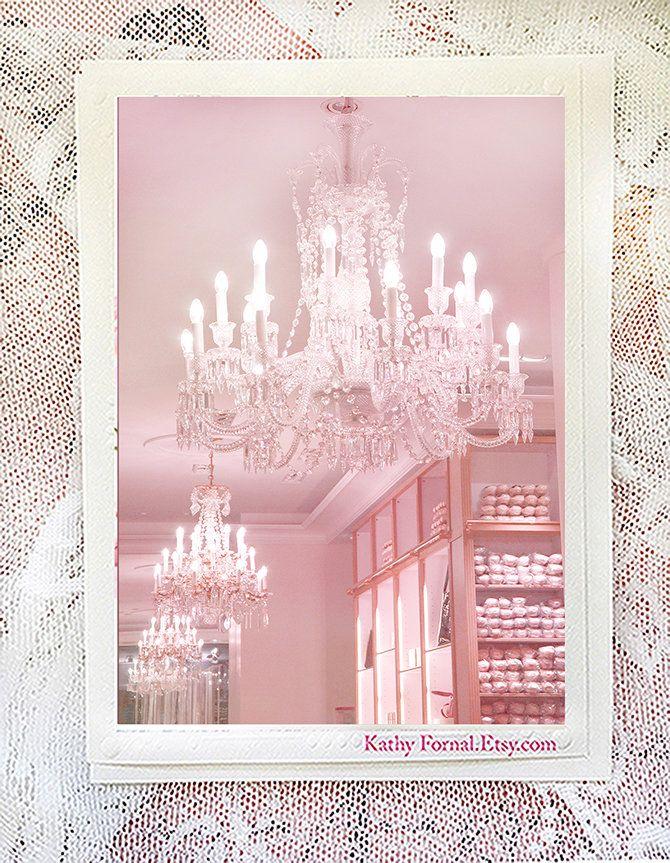 Paris Note Cards Pink Chandelier, Pink Chandelier Wall Art