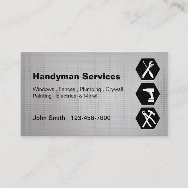 Handyman Construction Remodeling Business Cards Zazzle Com Construction Remodeling Remodeling Business Construction Business Cards