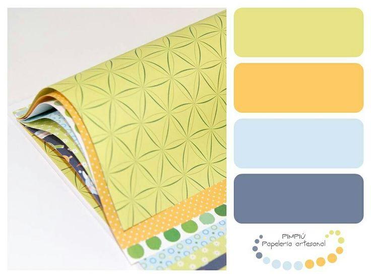 Aquí tenéis la #gamadecolores  de hoy, un cumple mes de la colección #paletadecolores #palette #colores Puedes ver los detalles en www.pimpi.com