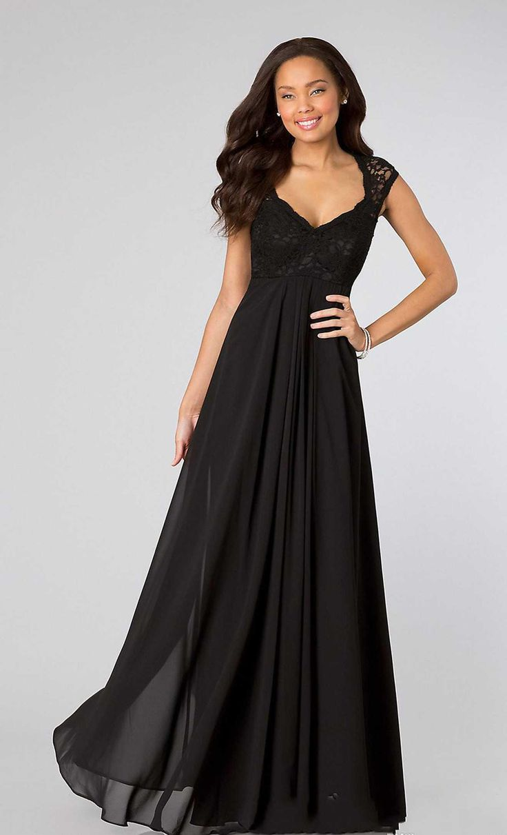 Wedding Black Bridesmaid Dresses Long 17 best ideas about maternity bridesmaid dresses on pinterest 2015 sexy black cap short sleeve with lace back cheap dress long chiffon sheath