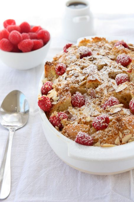 Baked Raspberry Almond French Toast | The Kitchen Paper