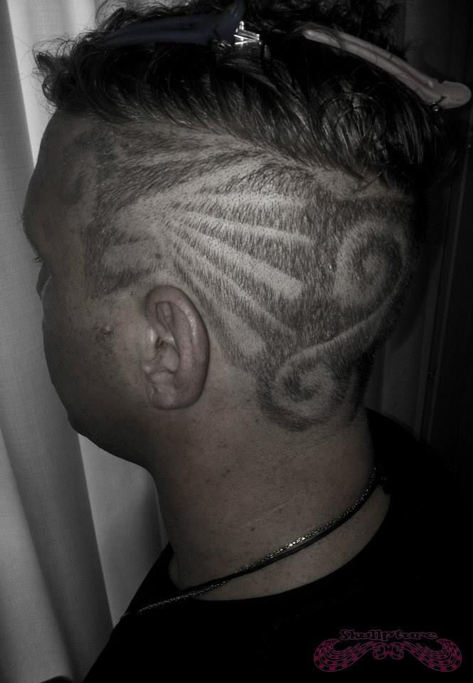hairtattoo tribal swirls
