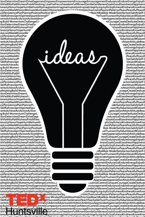 #TEDx post    Use word Ignite in lightbulb and list a bunch of words that we would follow after in the background?? Or like, similar thought?