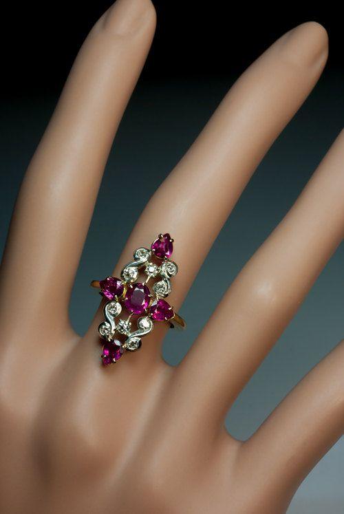 Hey, I found this really awesome Etsy listing at https://www.etsy.com/listing/230142465/vintage-art-deco-ruby-diamond-platinum