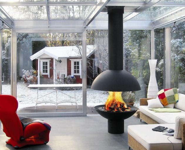 Offener Kamin u2013 Lagerfeuer-Romantik fürs Wohnzimmer Offener - offene feuerstelle wohnzimmer