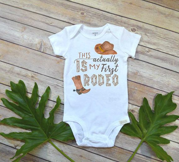 Cowboy onesie, First Rodeo, Country Baby, Pregnancy Reveal Onesie, Rodeo Onesie, Baby Shower Gift, Country Onesie, Country Baby Gift, Rodeo theme party