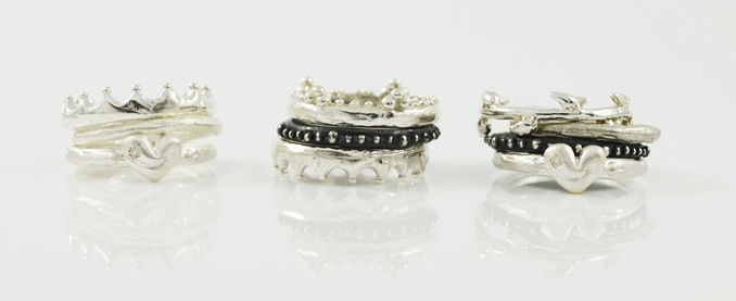 Get these beautiful sterling silver rings from Amery Carriére and get creative with your rings! Each ring is certainly a unique collectible as they are all personally hand-crafted!    http://www.crowdedsilver.com.au/store/amery-carriere-designer-9.html?page=all