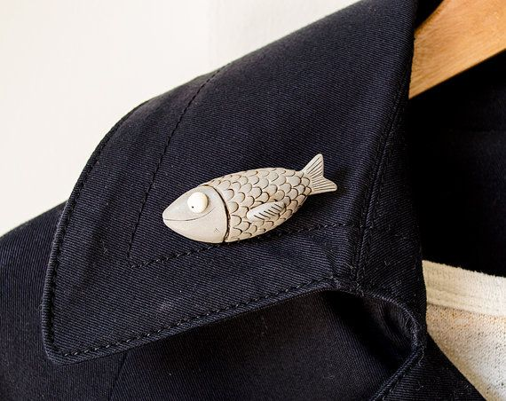 Seraphine the sardine brooch limited edition summer by maremagnum. #brooch #animalbrooch #sardine #giftsforfriend
